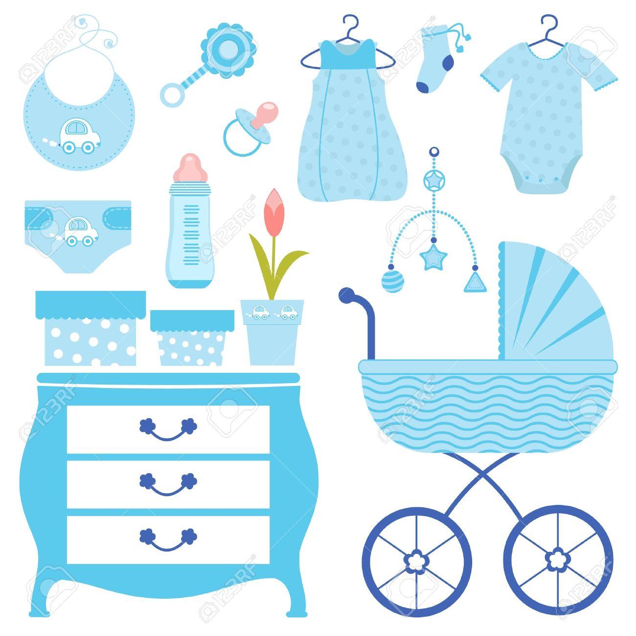 Baby shower blue - 12495357
