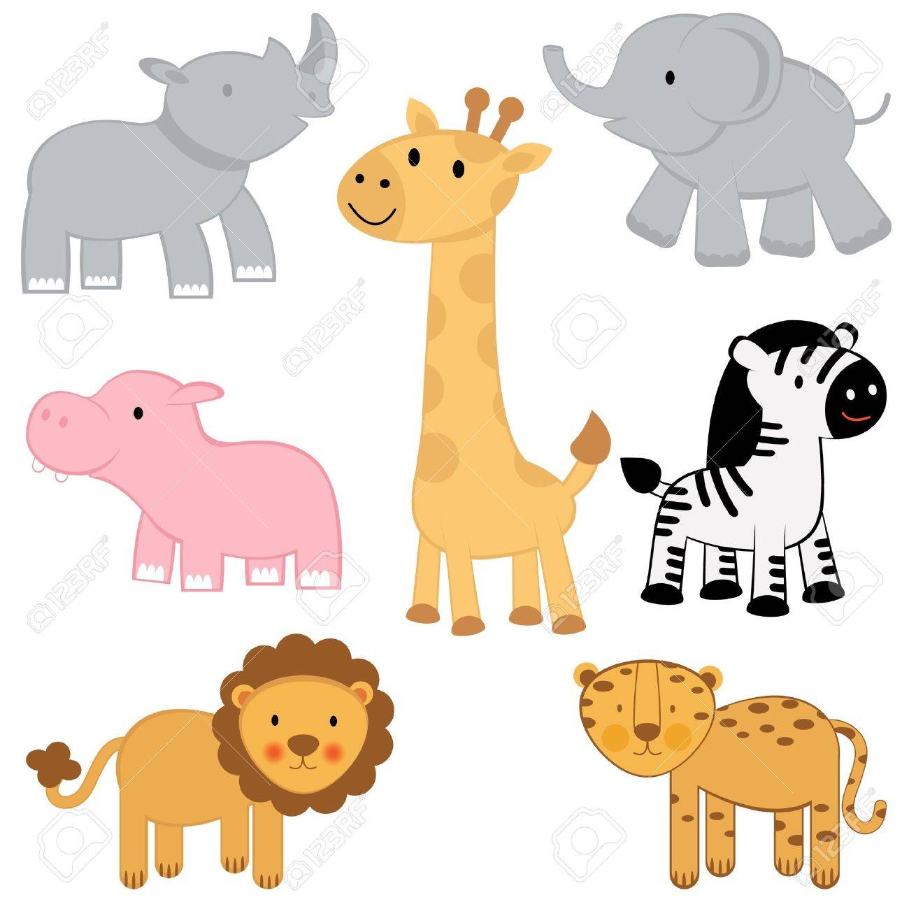 African animals set Stock Vector - 12884269