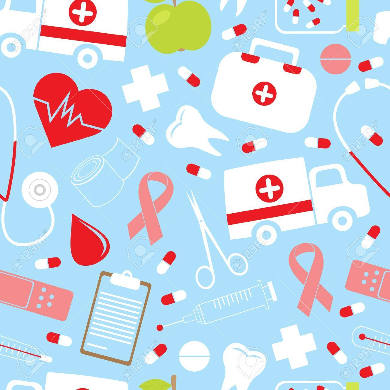 Colorful medical pattern Stock Vector - 13730899