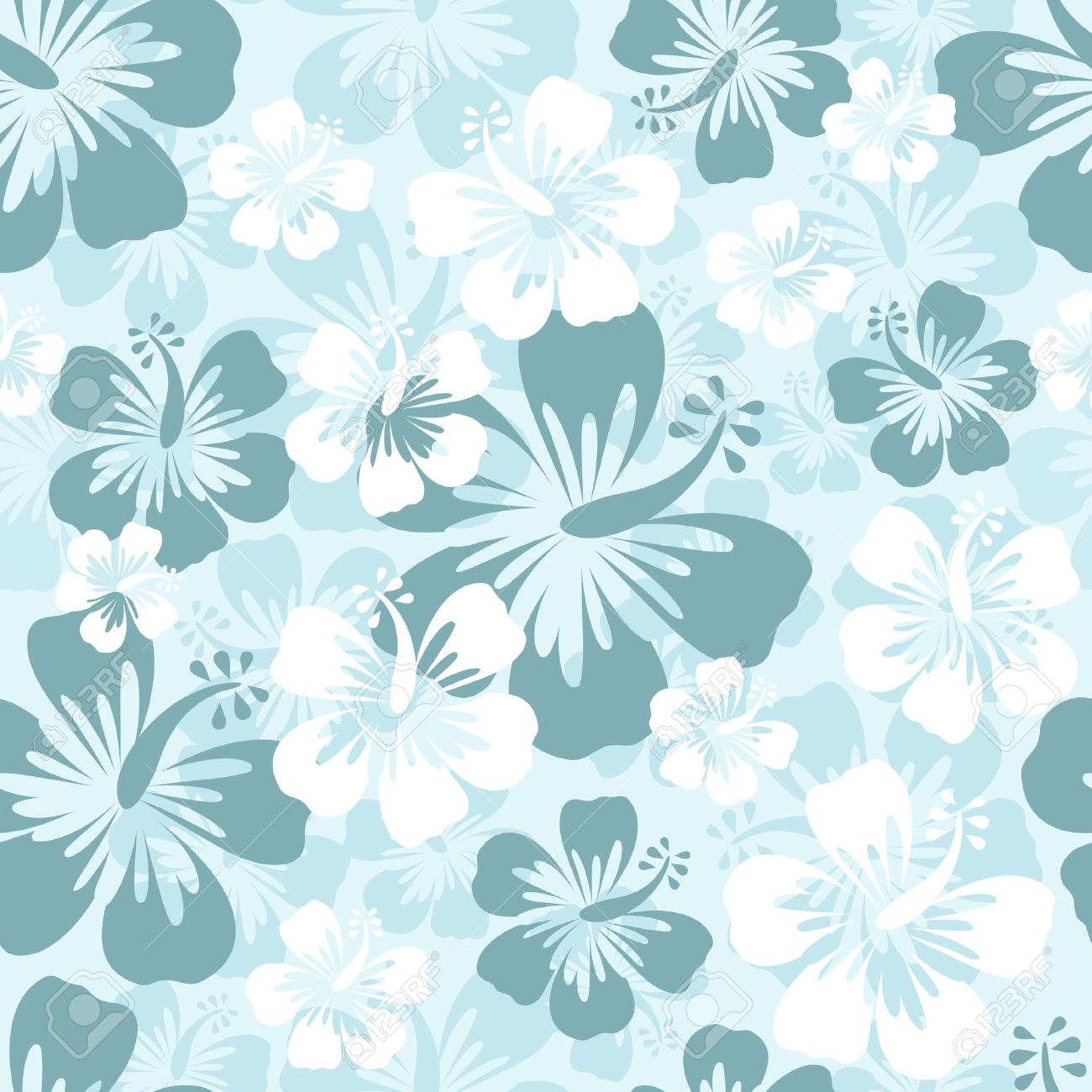 Hibiscus seamless pattern - 14054064