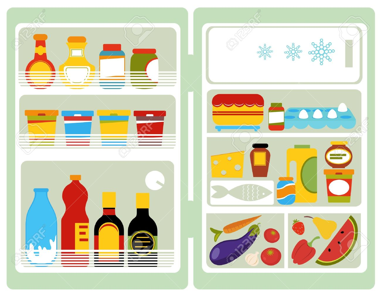 open refrigerator clipart. open fridge stock vector 14248525 refrigerator clipart w