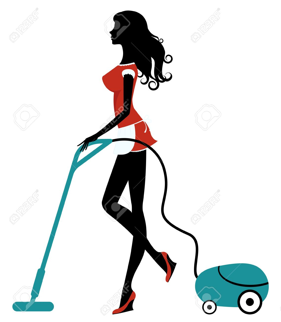 Vacuum cleaner clipart vacuum cleaner clip art - Vacuum Cleaner Girl With Vacuum Cleaner