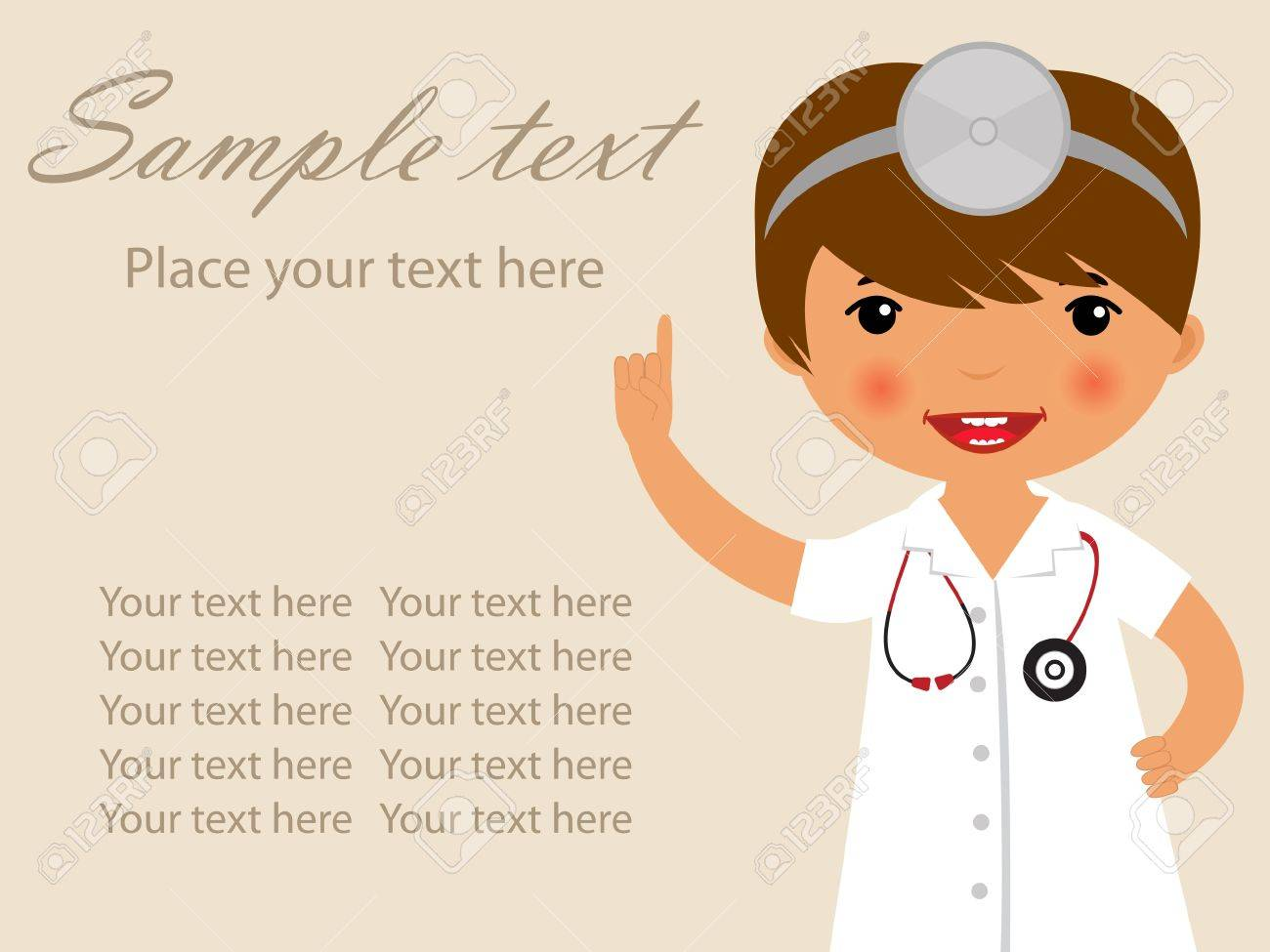 Cute doctor illustration Stock Vector - 14891365