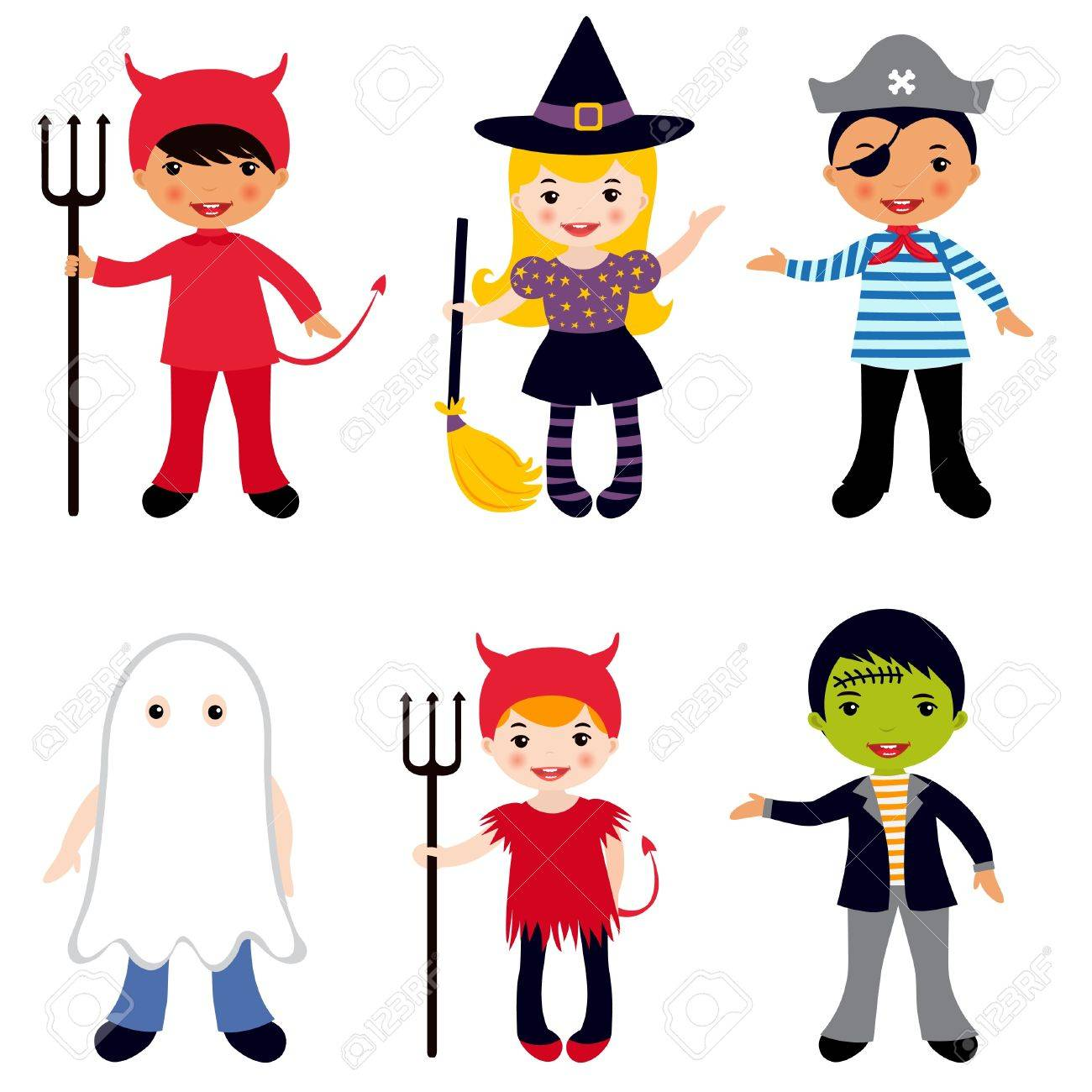 Halloween Kids Royalty Free Cliparts, Vectors, And Stock ...