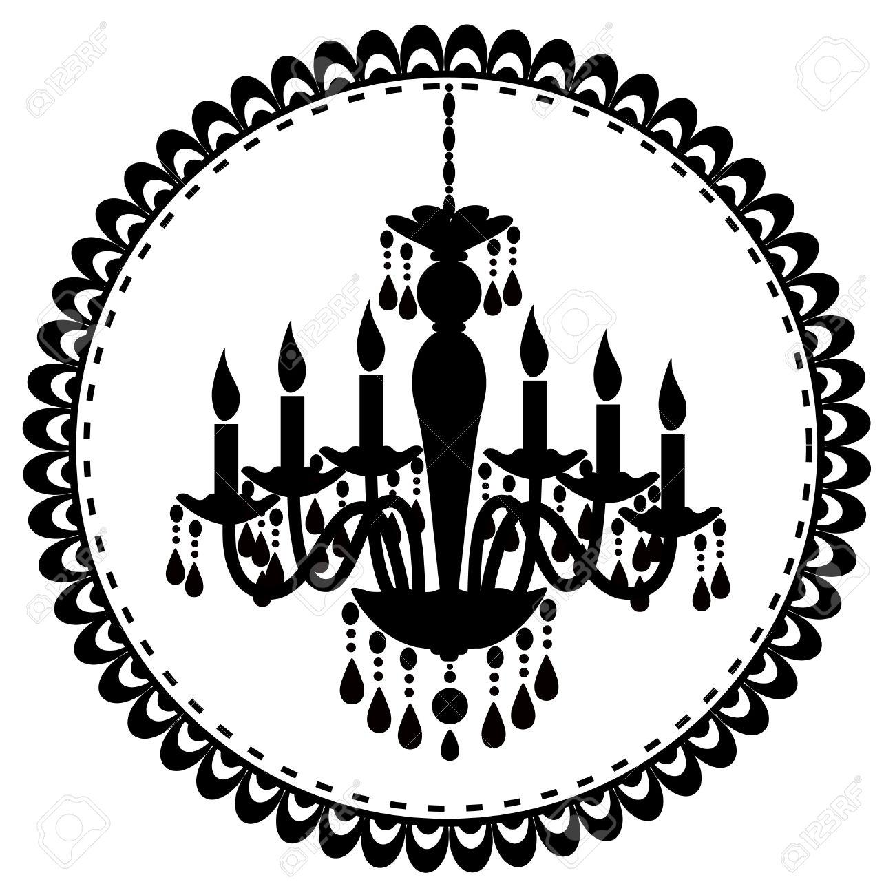 An illustration of chandelier Stock Vector - 15491417