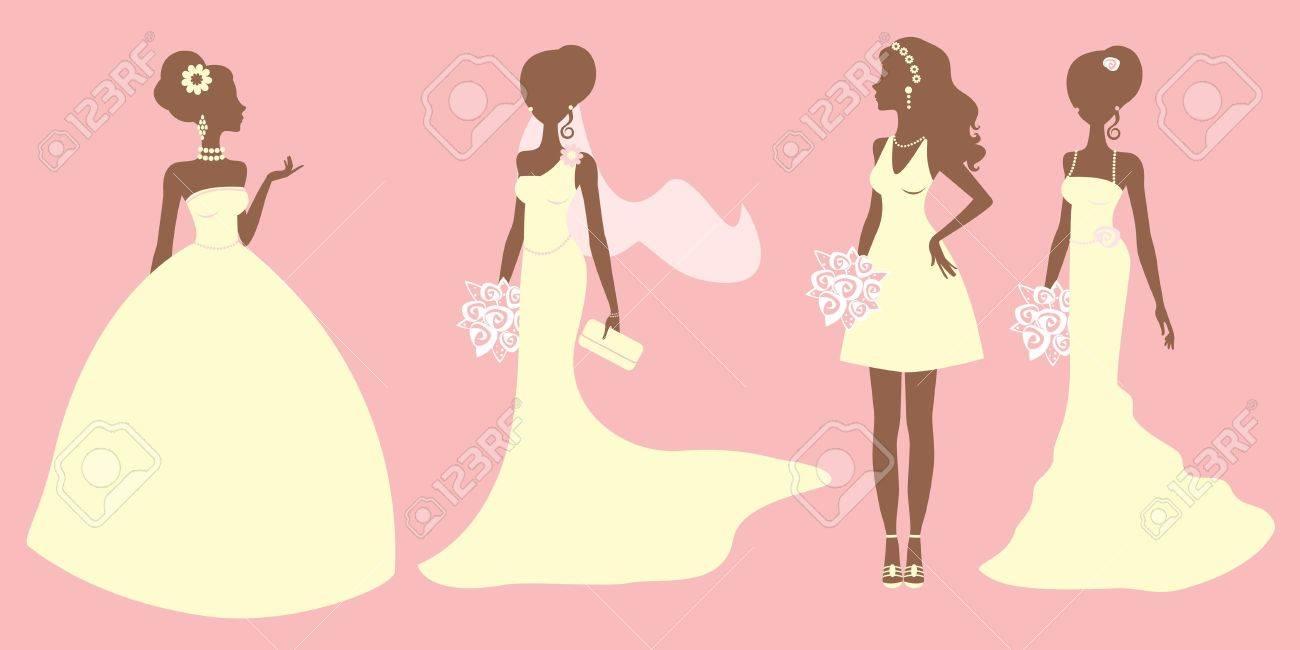 Una Ilustración De Las Novias Con Vestidos De Diferentes Estilos ...