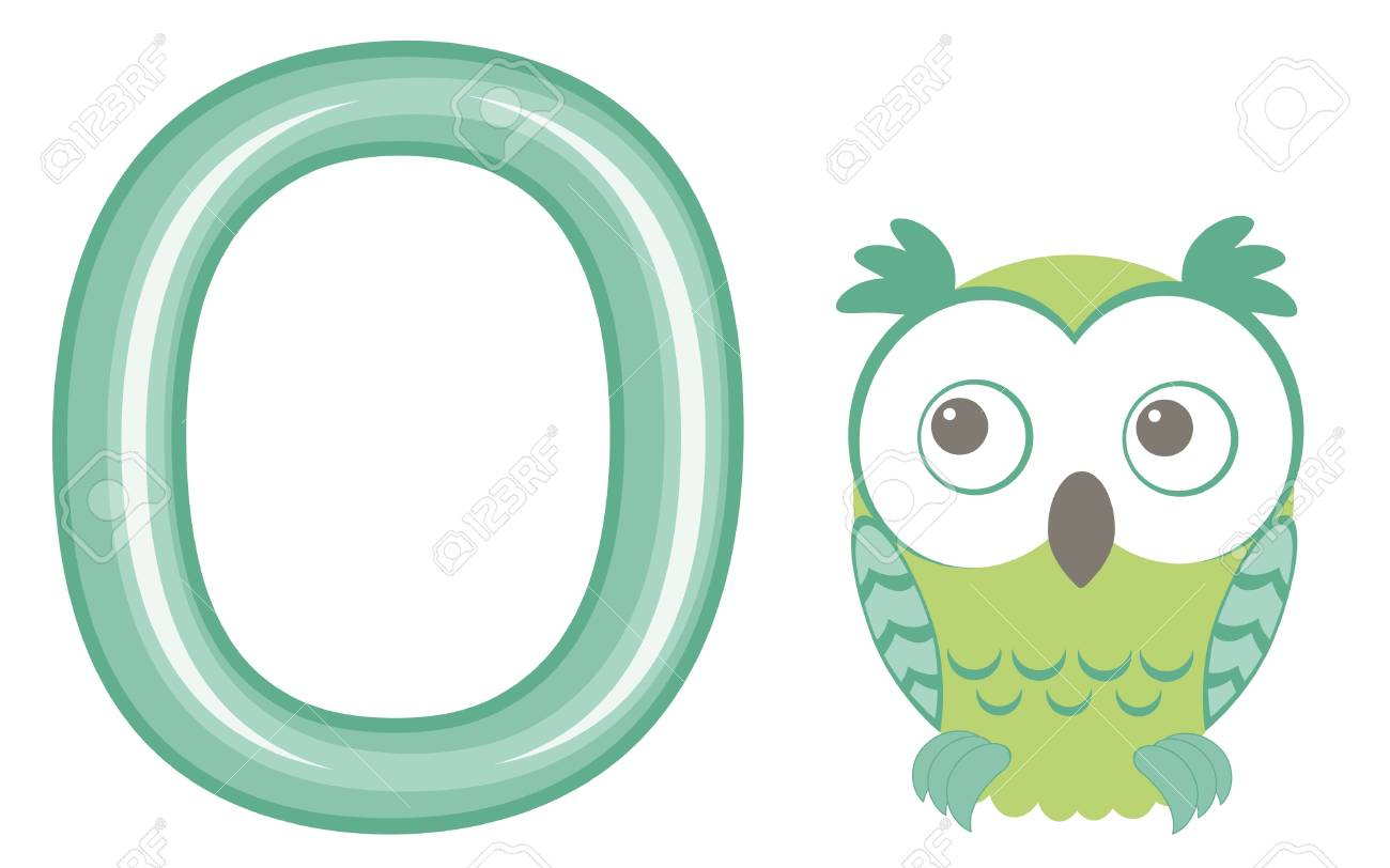 Vector illustration O is for owl Stock Vector - 17710666
