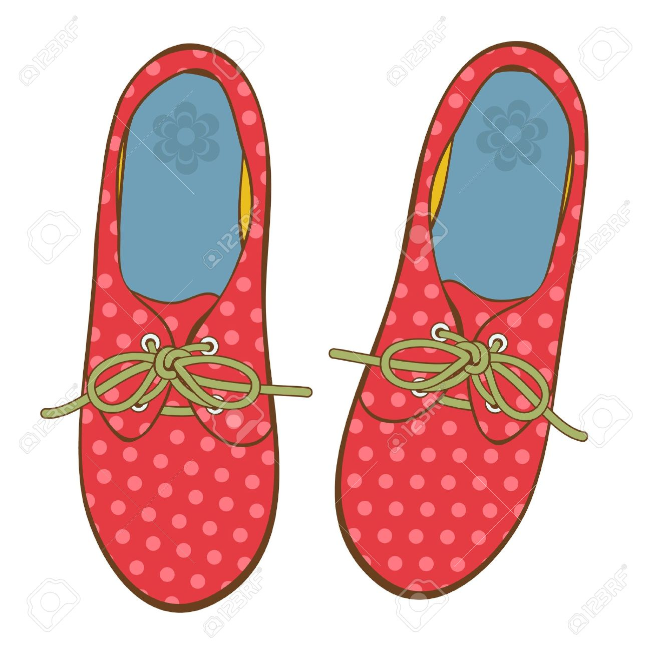Girl Shoes Clipart Girl Shoes Elegant Polka Dot