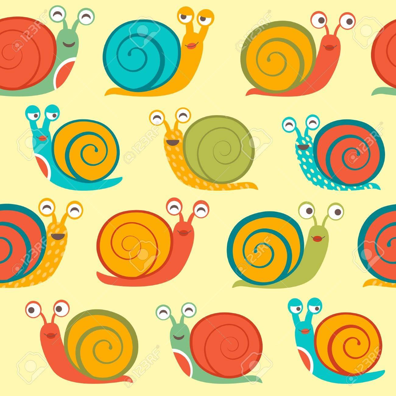 Snails seamless pattern Stock Vector - 20306472
