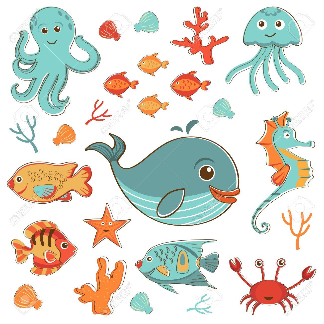 https://previews.123rf.com/images/olillia/olillia1307/olillia130700017/21081201-Sea-creatures-doodles-set-format-Stock-Photo.jpg