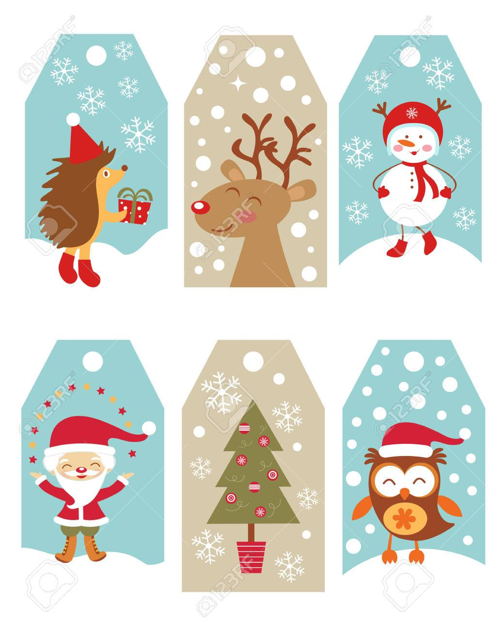 Christmas Gift Tags.Cute Collection Of Christmas Gift Tags