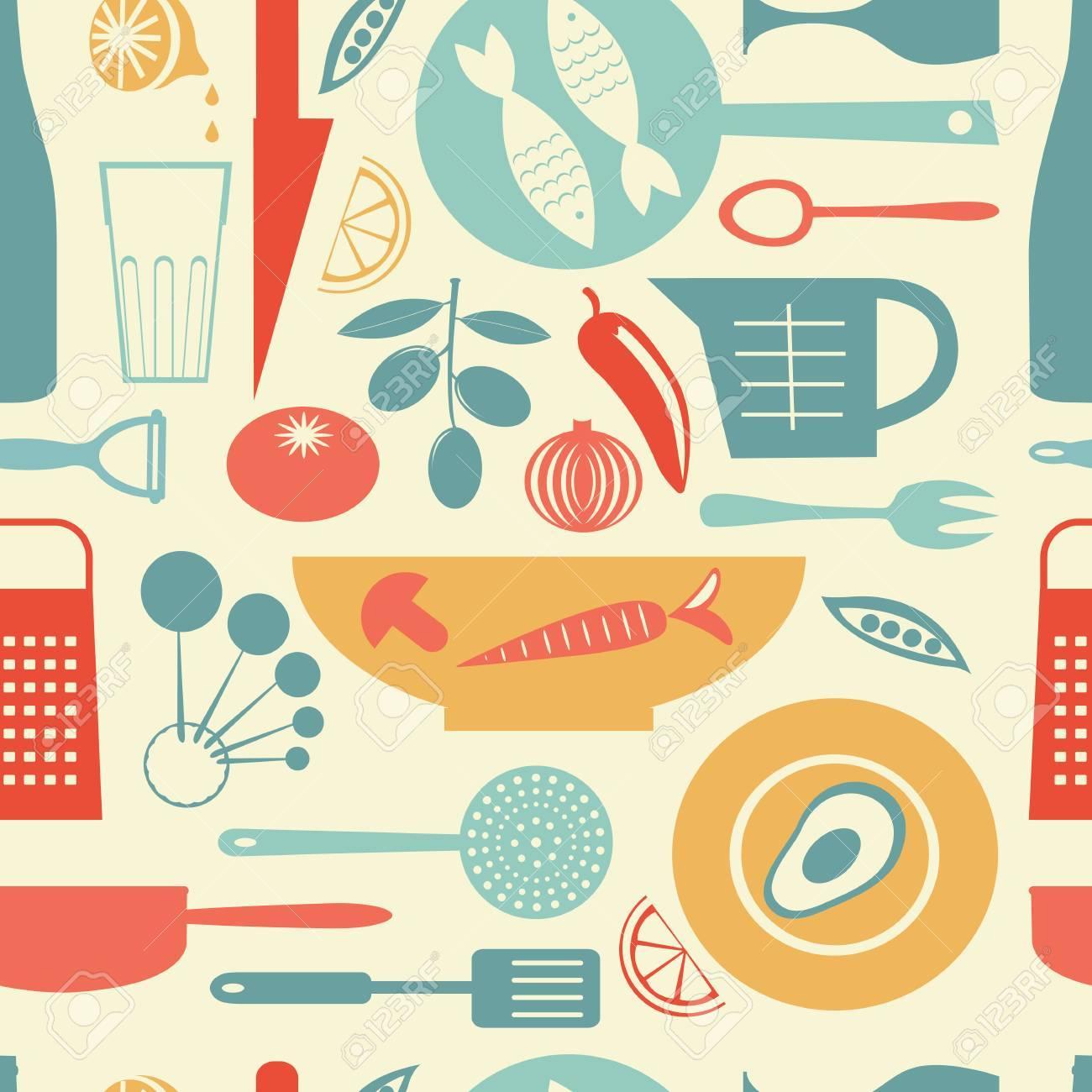 Eine Bunte Kuche Muster Vektor Illustration Lizenzfrei Nutzbare
