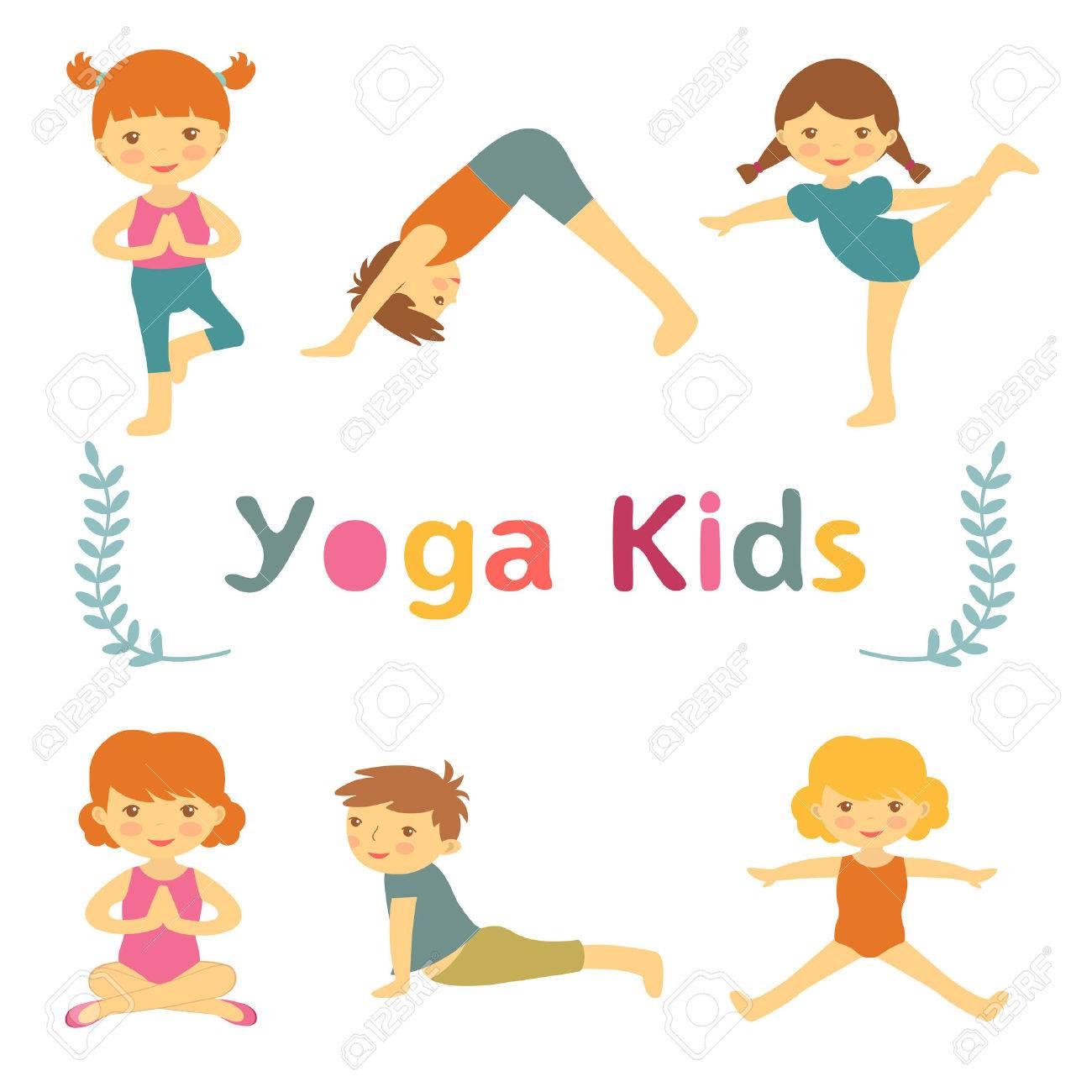 Cute yoga kids - 40063106
