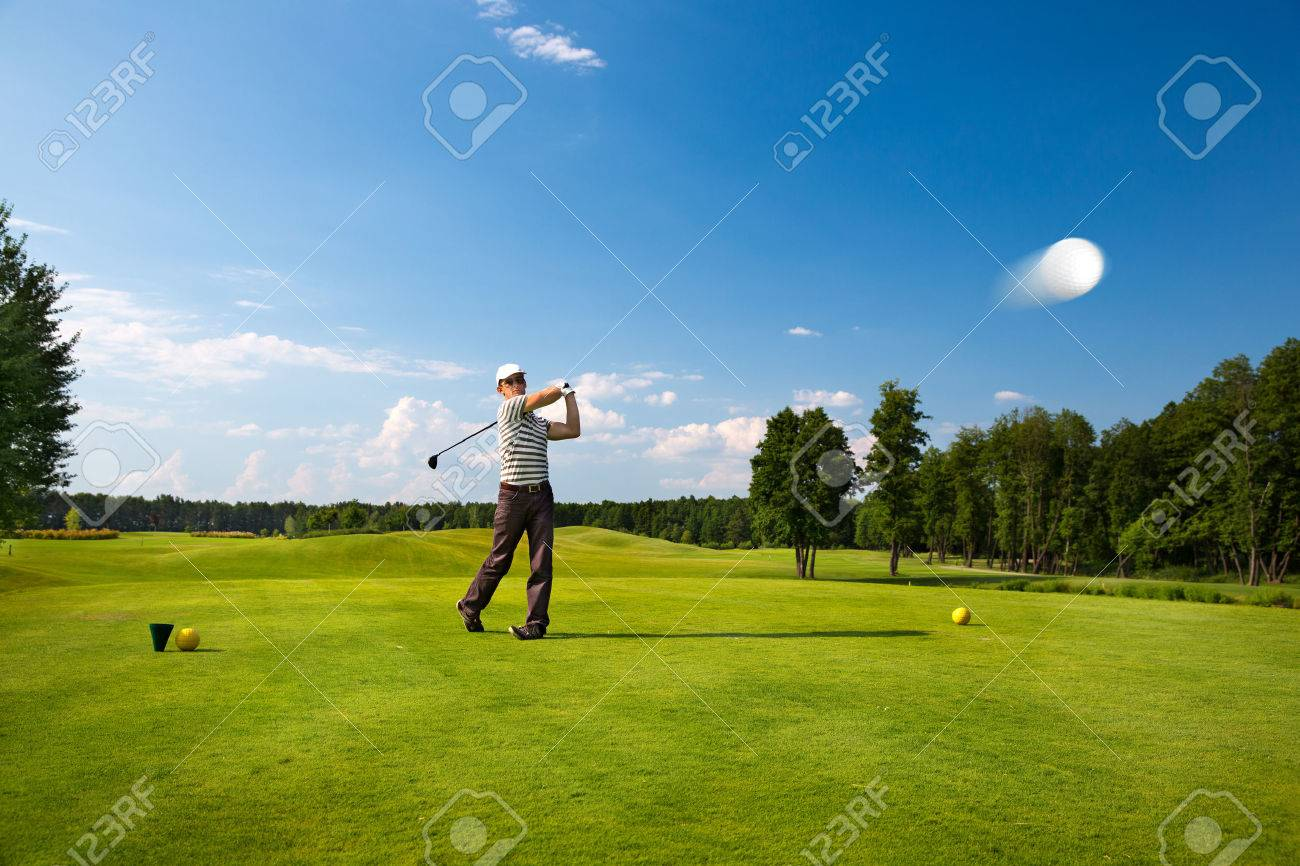 An image of a young male golf player - 53061349