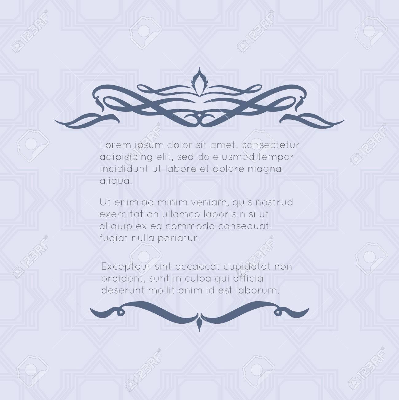 Border-Designs Für Grußkarten. Template-Design Für Die Einladung ...