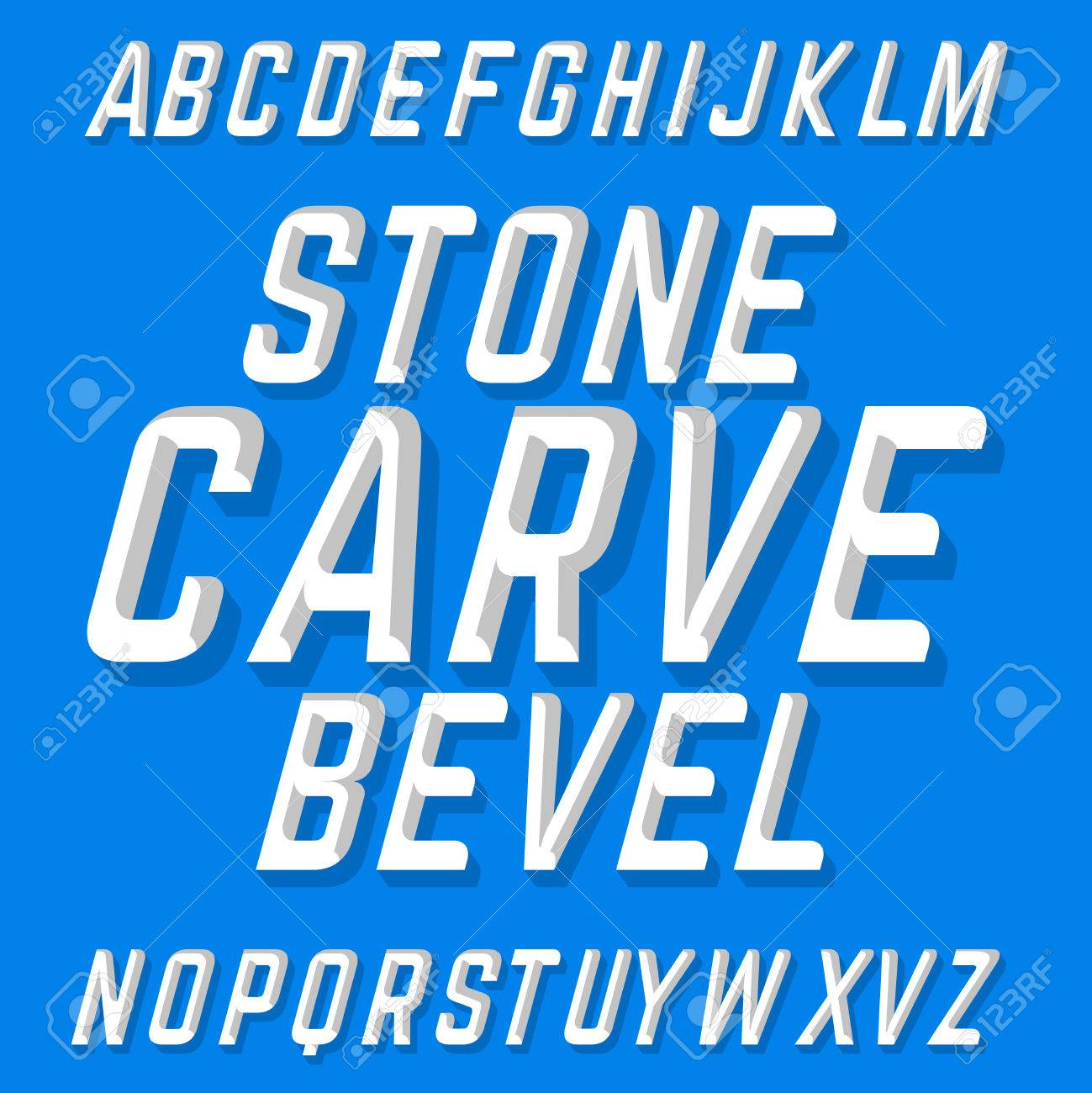 Hand crafted font stone carve bevel chiseled block letters on hand crafted font stone carve bevel chiseled block letters on the blue background stock thecheapjerseys Choice Image
