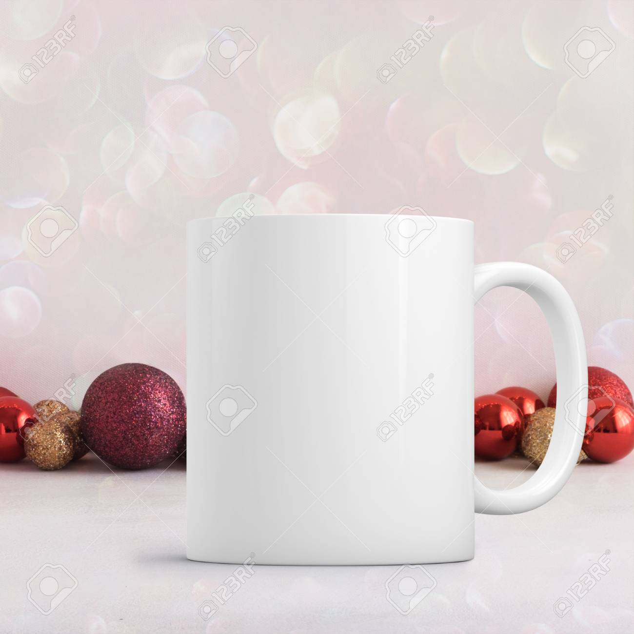Up Add Mug Coffee Christmas To White Mock Theme Custom Blank HWEI9eYD2