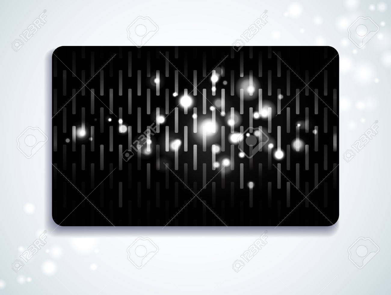 Glowing gift card with space for Your text Stock Vector - 9343709