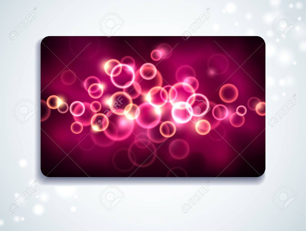 Glowing gift card with bubble pattern Stock Vector - 9343714