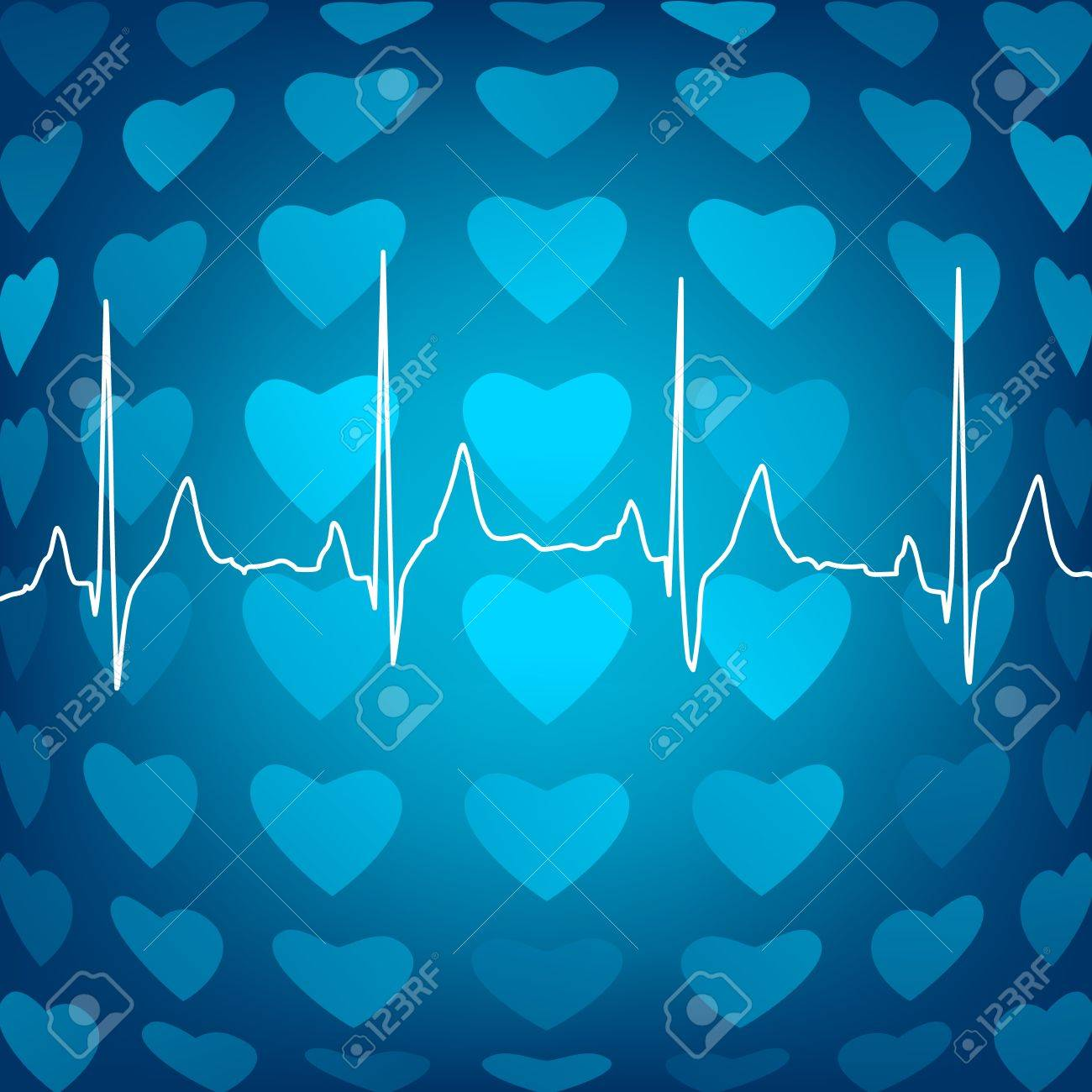 Heart beat abstract background, vector eps8 illustration Stock Vector - 9601783
