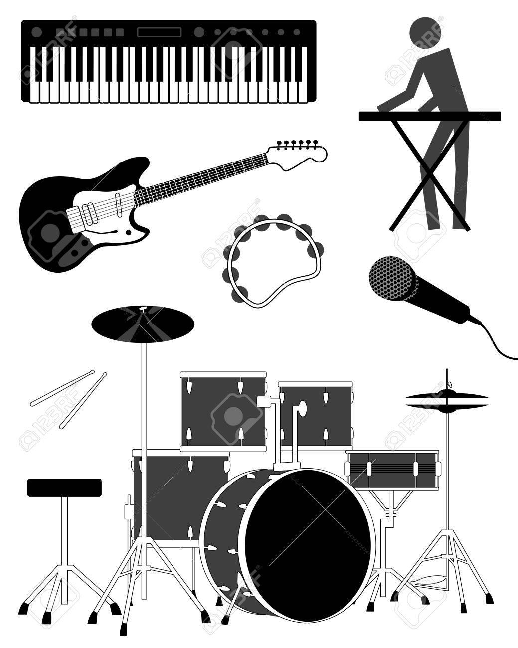 Drum Set Clipart Drum Set Simple Music Icon