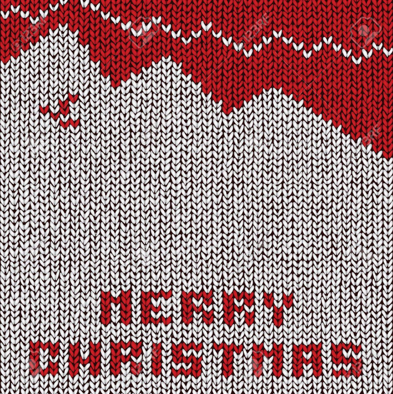 Christmas sweater background, vector eps10 illustration Stock Vector - 18278723