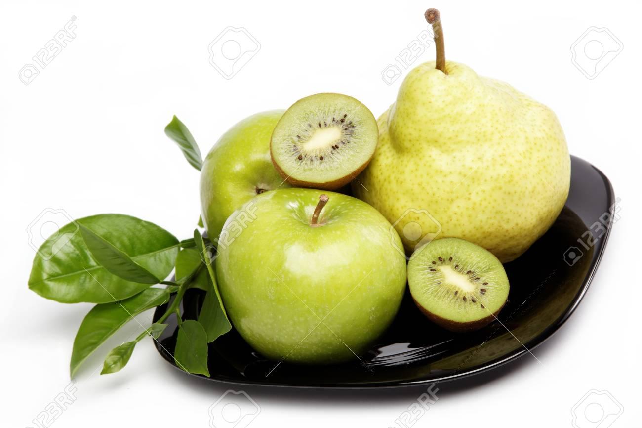 Fresh fruits isolated on a white background. Stock Photo - 16002571