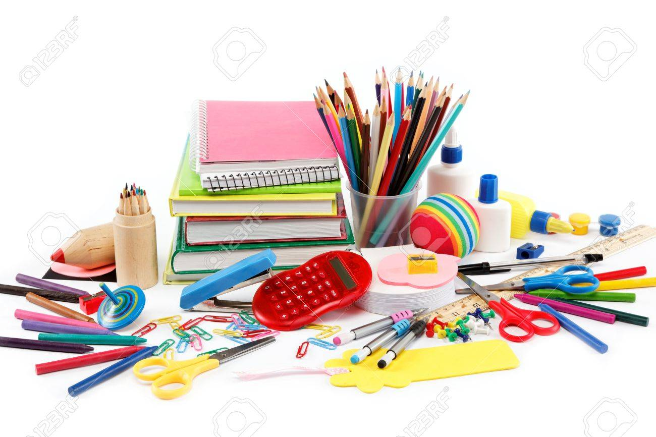 School and office supplies on white background. Back to school. - 16236753