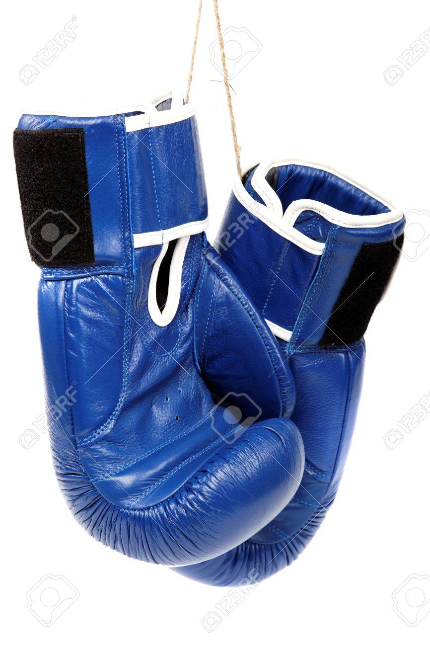 Boxing gloves isolated on white background. - 17943975