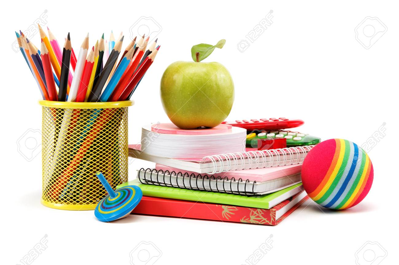 School and office supplies on white background. Back to school. Stock Photo - 18028879