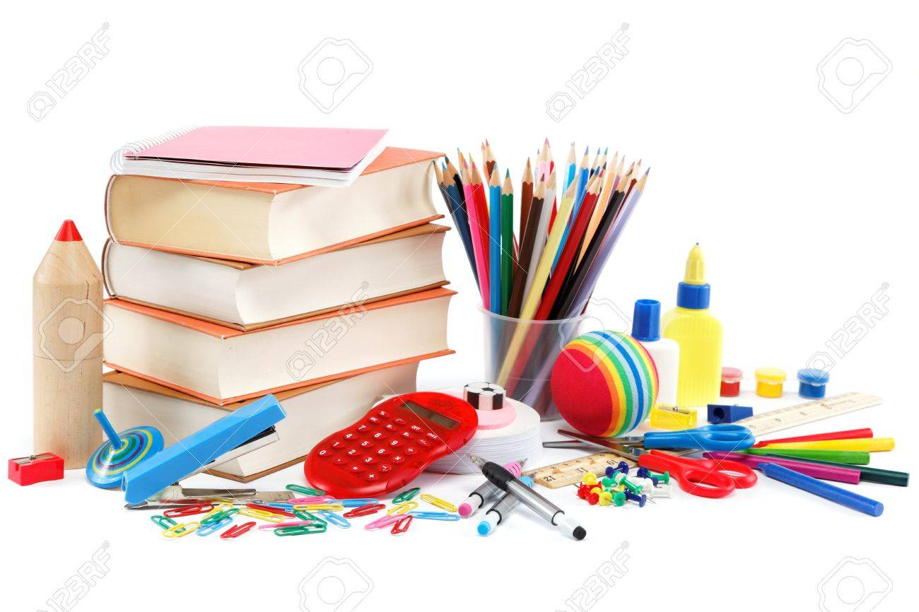 School and office supplies on white background. Back to school. - 20875995