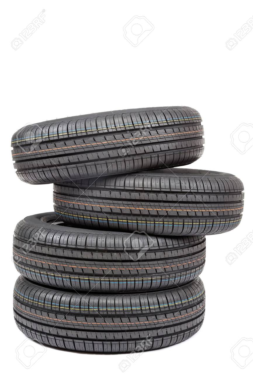 Car tires isolated on white background. - 40929224