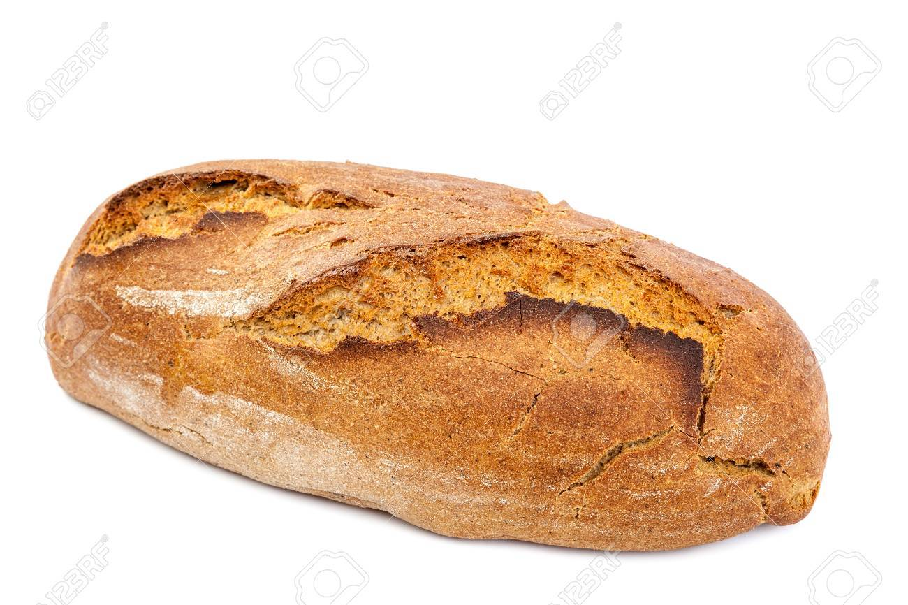 Loaf of bread isolated on white background. - 47179030