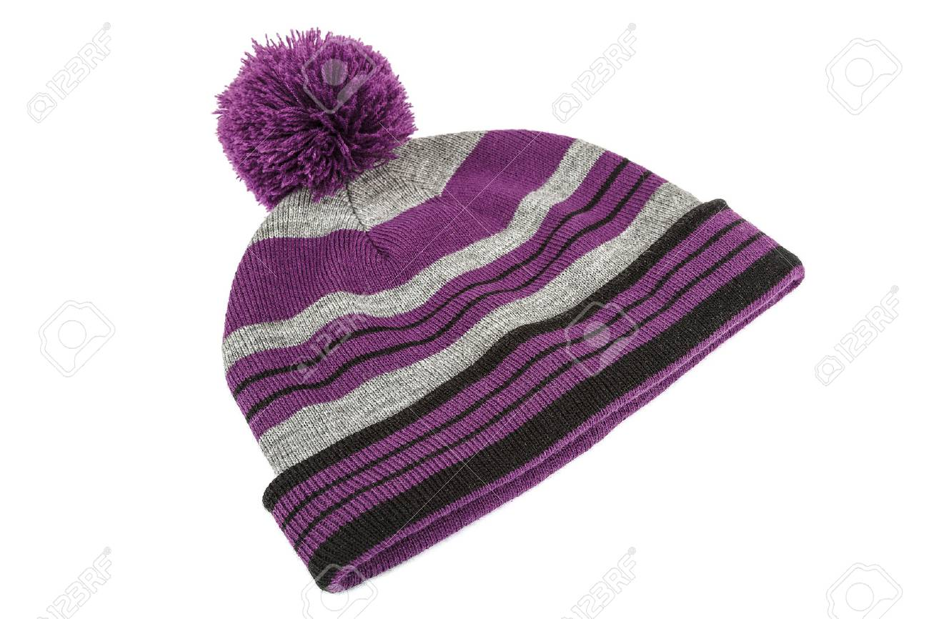 Winter hat isolated on white background. - 70313446