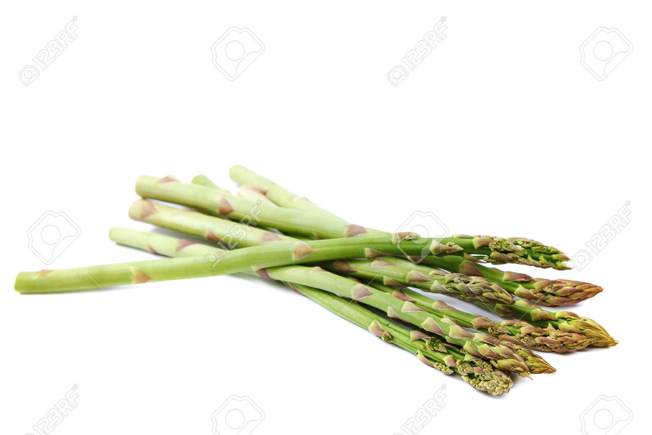Fresh vegetables asparagus isolated on white background. - 157708084