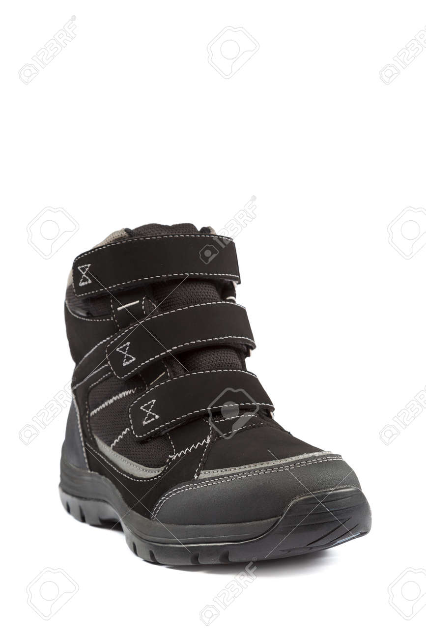 Winter boots isolated on a white background. - 157708086