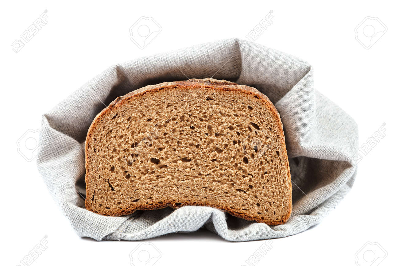 Loaf of rye bread isolated on white background. - 157708617