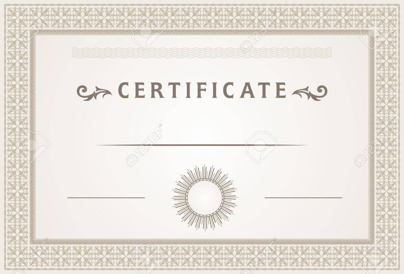 Certificate Border And Template Design Royalty Free Cliparts