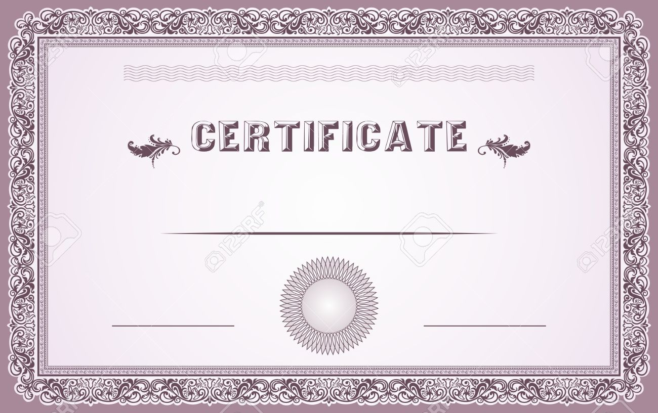 Certificate Border And Template Design Royalty Free Cliparts ...