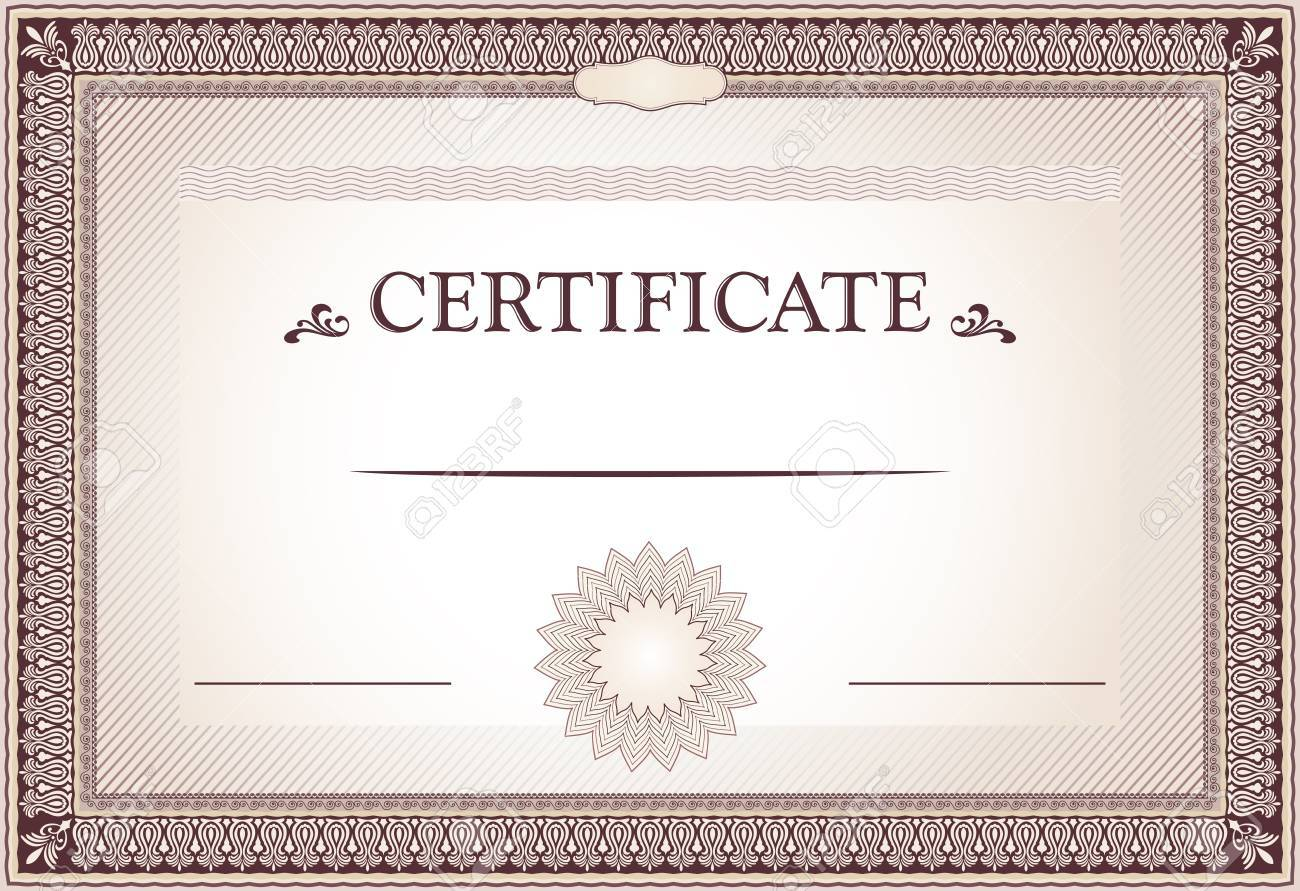 Certificate Of Achievement Borders And Template Royalty Free ...