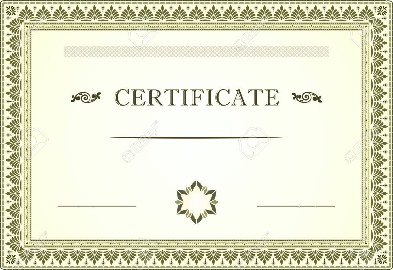 Certificate Border And Template Royalty Free Cliparts, Vectors, And ...