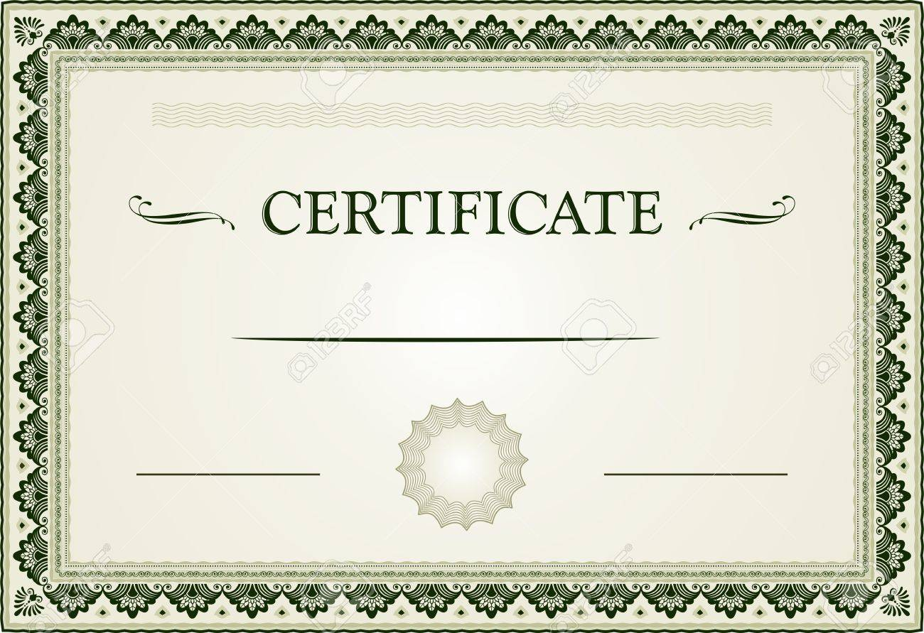 Ornamental Certificate Border And Template Royalty Free Cliparts ...