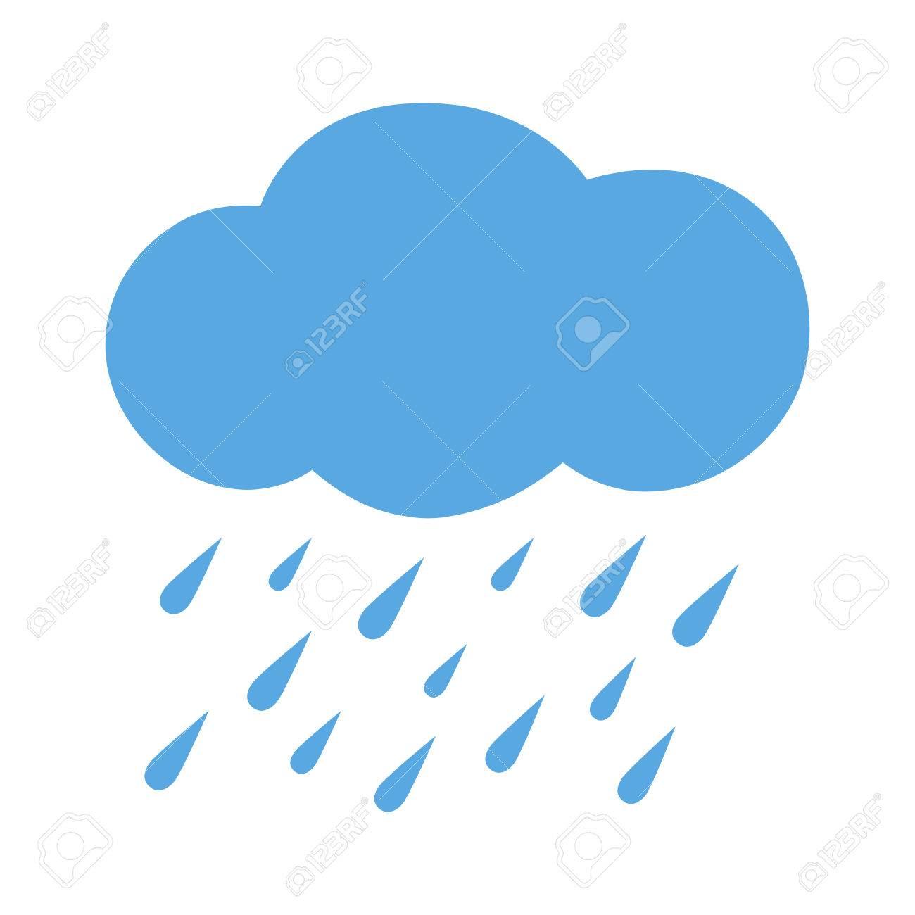フラット アイコン大雨ベクトルの図のイラスト素材ベクタ Image