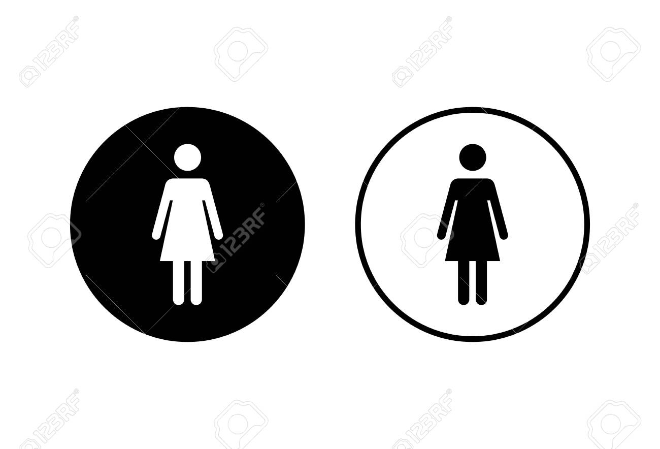 woman icon vector toilet sign woman restroom sign vector female royalty free cliparts vectors and stock illustration image 149484730 woman icon vector toilet sign woman restroom sign vector female