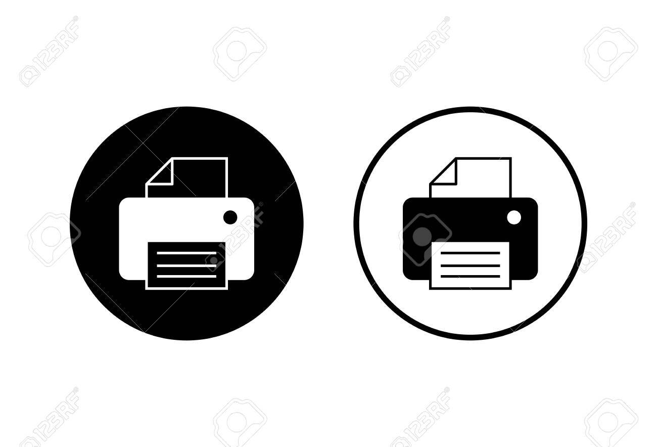 printer icons set on white background print icon fax vector royalty free cliparts vectors and stock illustration image 149616612 123rf com
