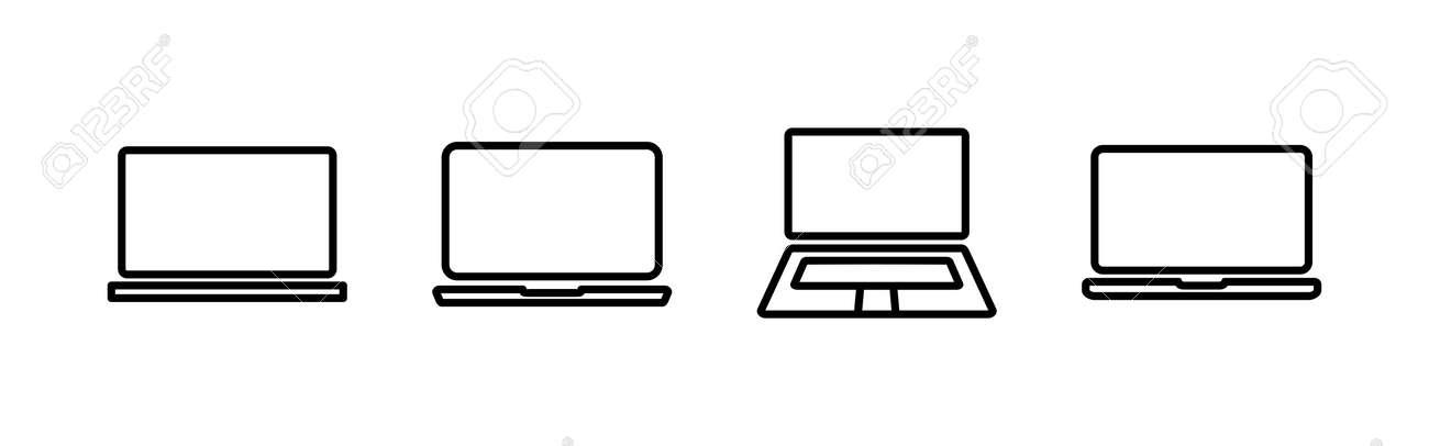 Laptop icons set. Laptop vector icon - 166682422