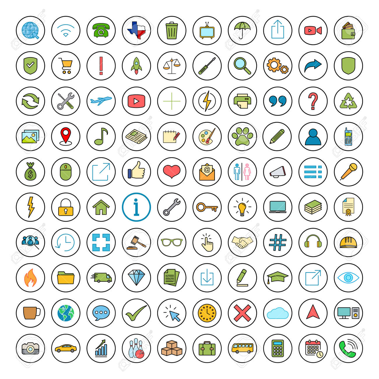 Web icon set. Contact us icon set. Business, ecommerce, finance, accounting. - 168081109