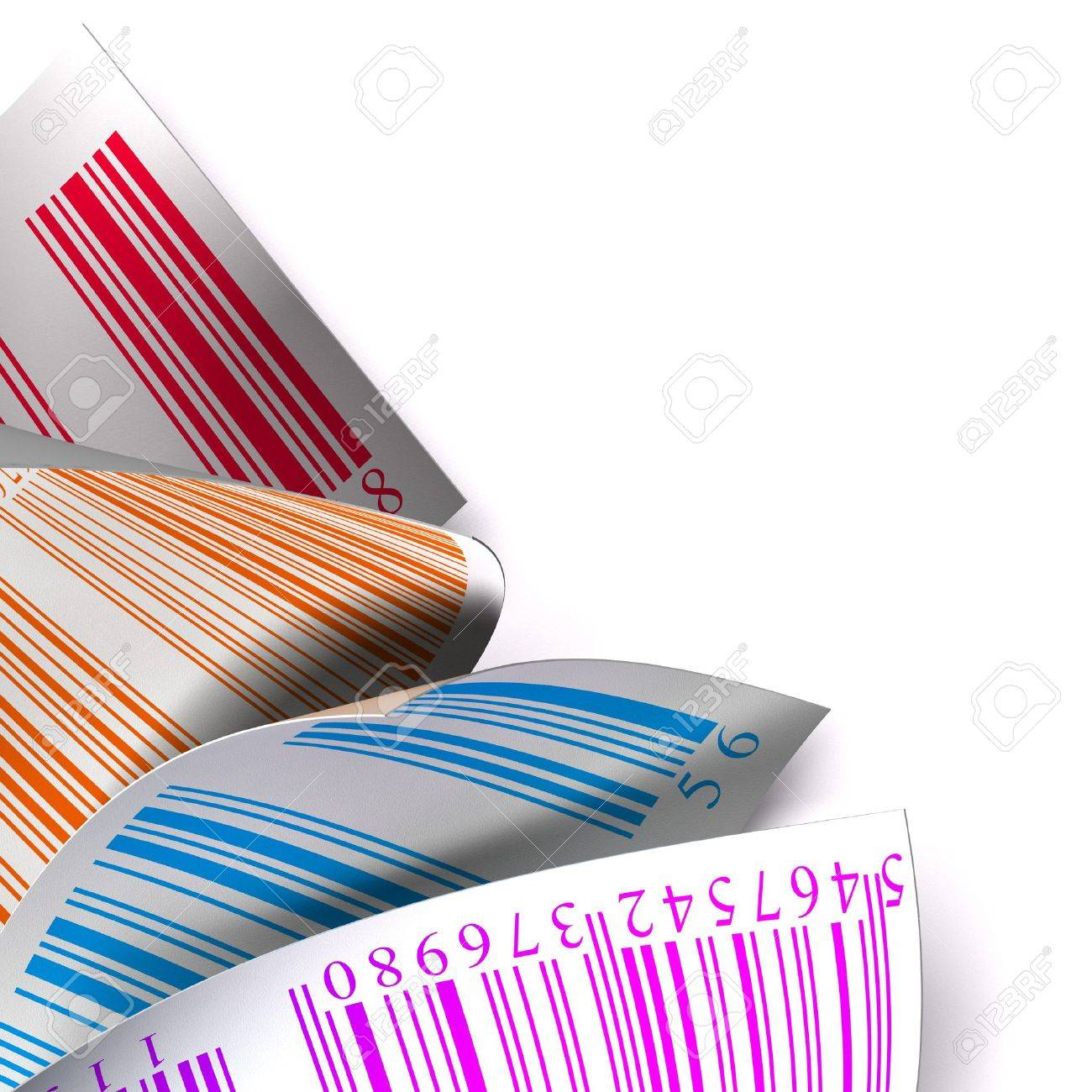 barcodes stickers with differents colours over a white background Stock Photo - 7716374