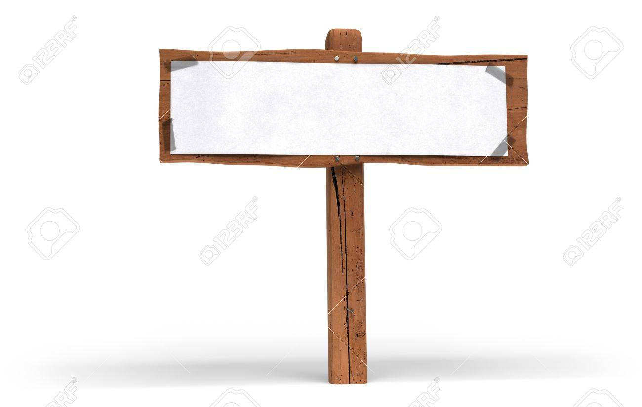 Ecrire Sur Panneau Bois petit panneau en bois sur fond blanc. un livre blanc est fixé sur le  panneau en bois avec du ruban de plastique pour écrire un message de