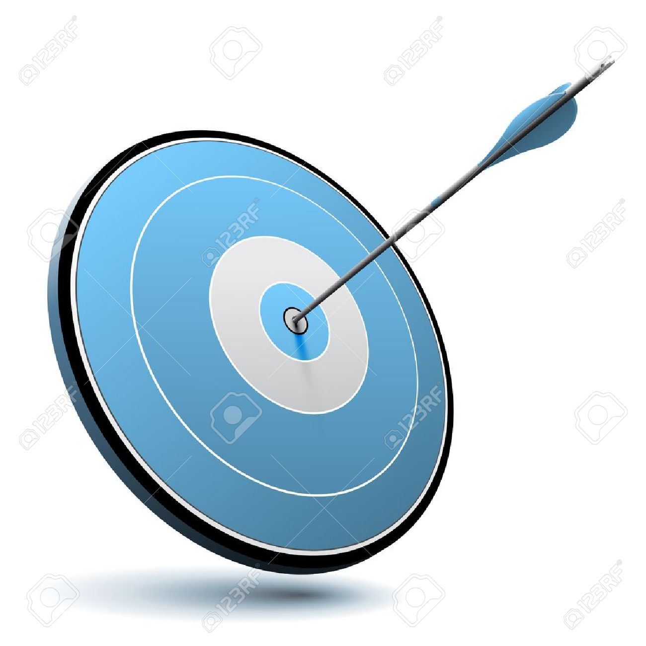 20304381-One-arrow-hit-the-center-of-a-blue-target-vector-image-suitable-for-business-or-marketing-logo--Stock-Vector dans Cuchon